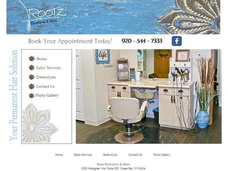 Rootz Electrolysis & Salon Website Design