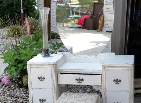 Distressed Antique Vanity