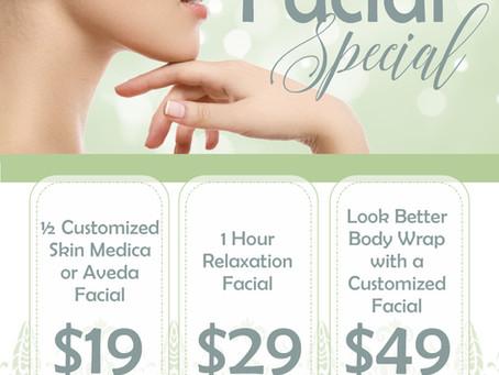 Serenity Spa & Salon Facial Special Advertising