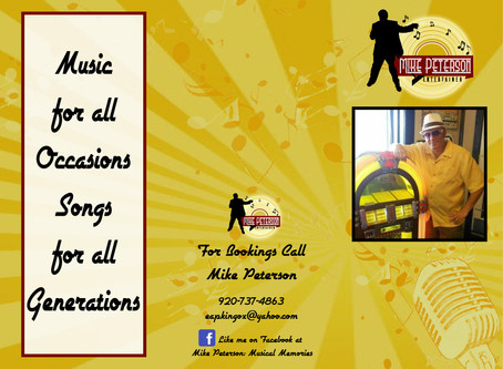 Mike Peterson Entertainer Brochure Design