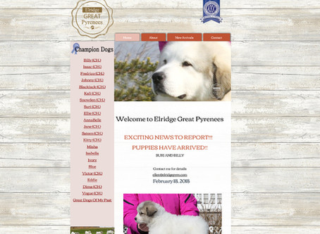 Elridge Pyrenees Website Design