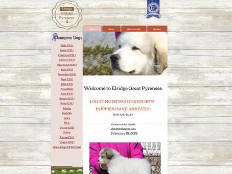 Elridge Pyrenees Website Design