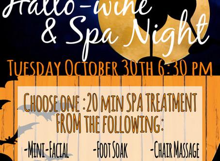 The Day Spa Wine & Spa Night Inhouse Advertising