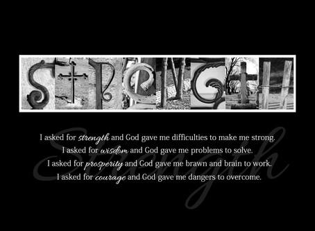 """""""Strength"""" Letter Art"""