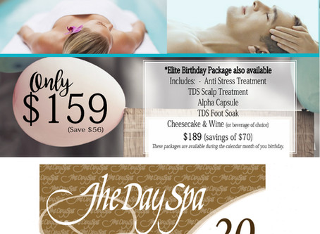 The Day Spa Celebrate Me Email Advertising