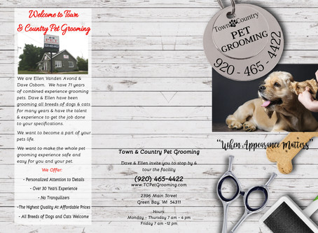 Town & Country Pet Grooming Brochure Design