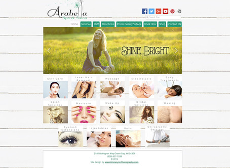Arabella Spa & Salon Website Design