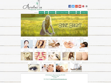 Arabella Spa & Salon Website Design