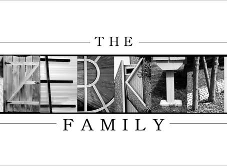 """""""The Szerkins Family"""" Letter Art"""