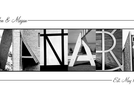 """""""VanArk"""" Letter Art"""