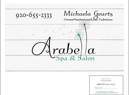 Arabella Spa & Salon Business Card Design