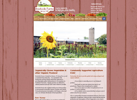 Brookside Farms Website Design