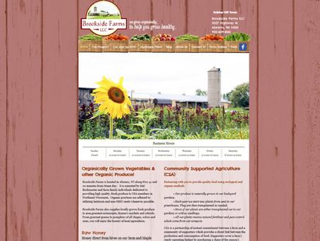Brookside Farms Website Design