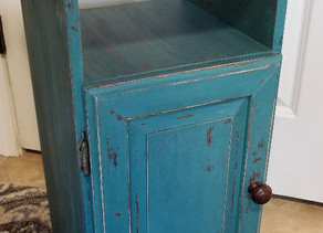 Distressed Tidal Pond Cabinet with Pallet Wood Top