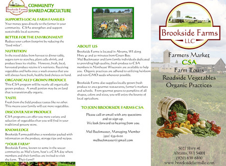 Brookside Farms LLC Brochure Design