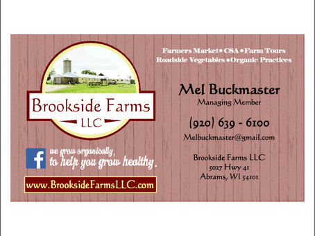 Brookside Farms LLC Business Card Design