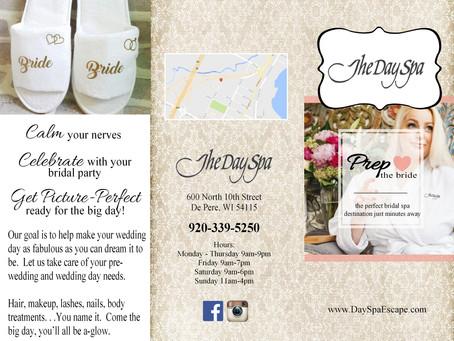 The Day Spa Prep The Bride Brochure Design