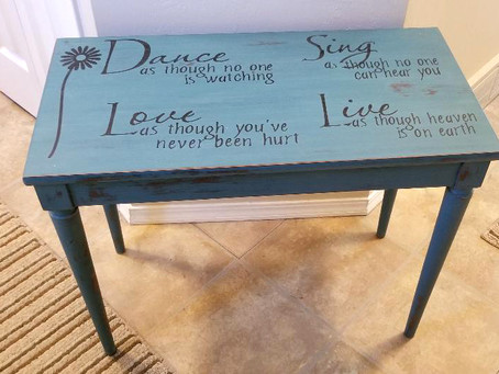 Distressed Tidal Pond Dance, Love, Sing, Live Opening Piano Bench