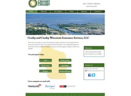 Crosby & Crosby Wisconsin Website Design