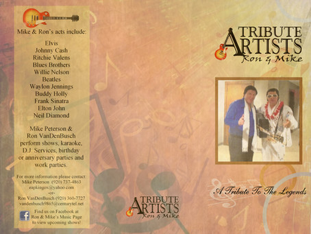 Tribute Artists Ron & Mike Brochure Design