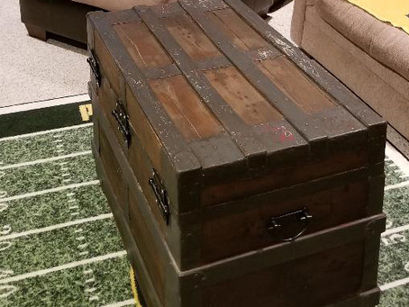 Upcycled Opening Chest