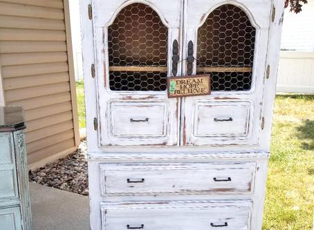 Distressed Linen White Dresser