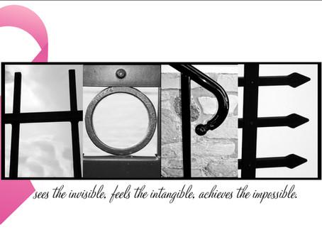 """""""Hope"""" Letter Art"""
