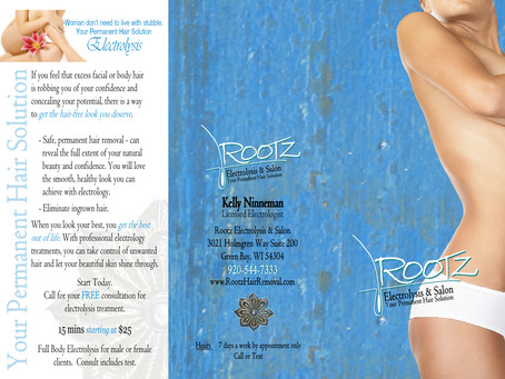 Rootz Electrolysis & Salon Tri-Fold Brochure Design