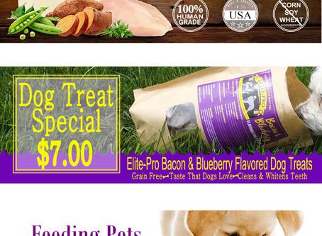 Town & Country Pet Grooming Elite Dog Food Website Banner Advertising
