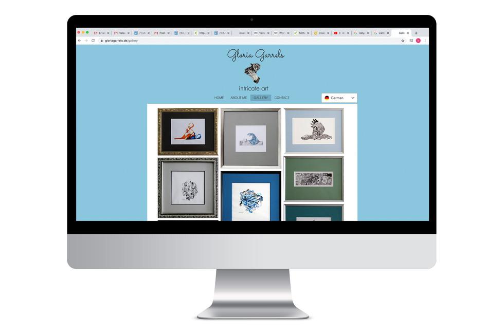 Webdesign für eine Künstlerin