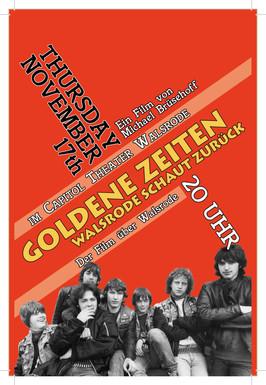 """Werbe-Plakat für den Fim """"Goldene Zeiten Walsrode schaut zurück"""""""