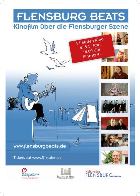 """Plakat Gestaltung für den Film """"Flensburg Beats"""""""