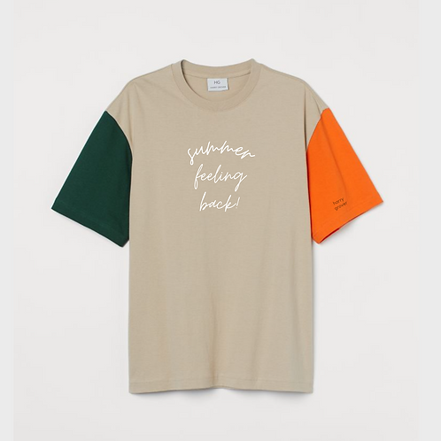 Summer Feeling Back Relaxed Fit T-Shirt
