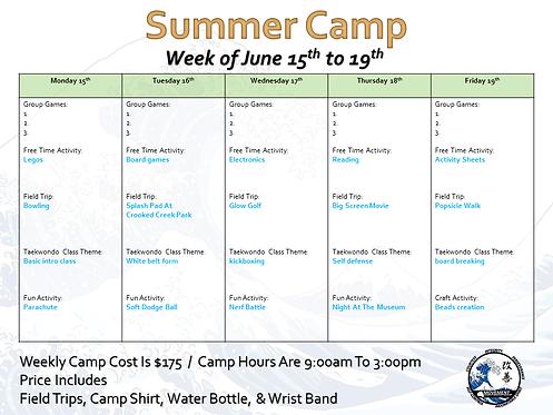 Summer Camp Pre-Registration