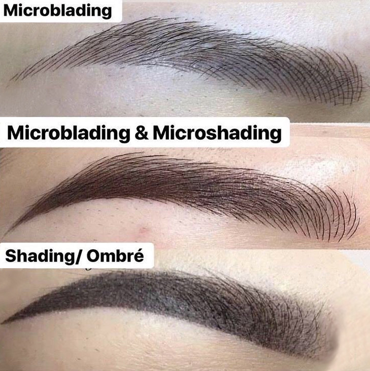 Microblading, Microblading & Microshading and Shading/Ombré