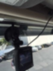 GPS dash cam mounted in truck