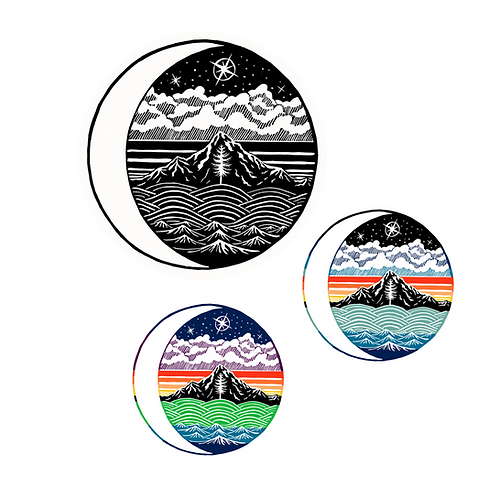 Cascadian Nights Vinyl Sticker by Jason McDonald