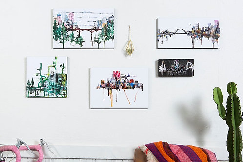 "SM 5x10"" Prints on Wood by Ursula Barton"