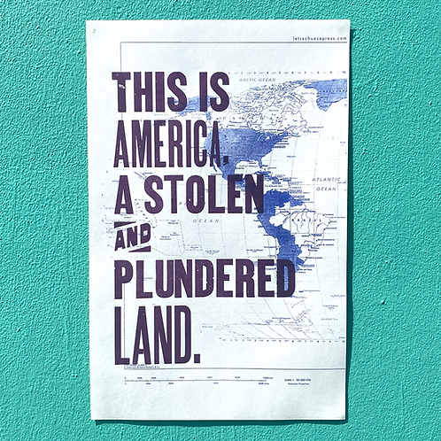 This is America poster by Letra Chueca Press