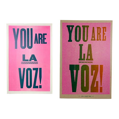 You are la voz! Poster by Letra Chueca Press