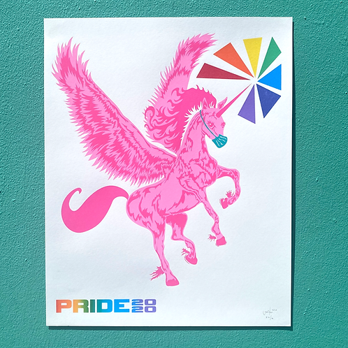 PRIDE 2020 16x20 Screenprint Poster by Jonathan Hanisits