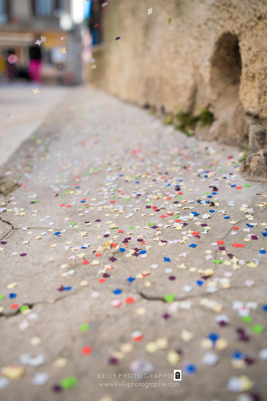 confettis - séance photo EVJF Agen