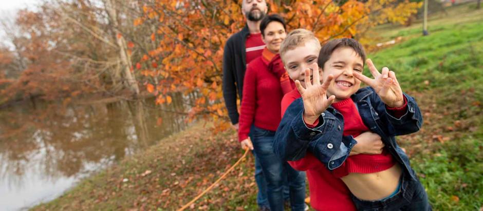 Séance photo famille - en hiver