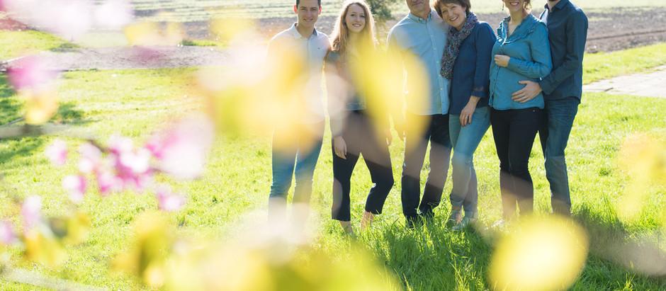 Photo de famille avec de grands enfants