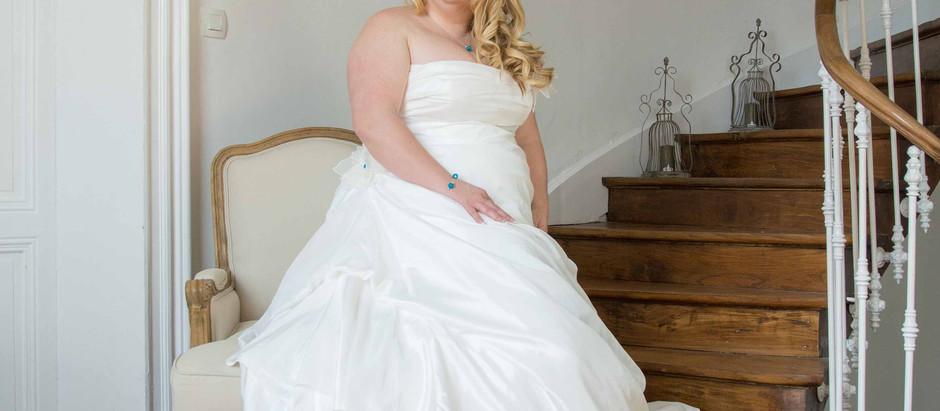 Portrait glamour d'une future mariée