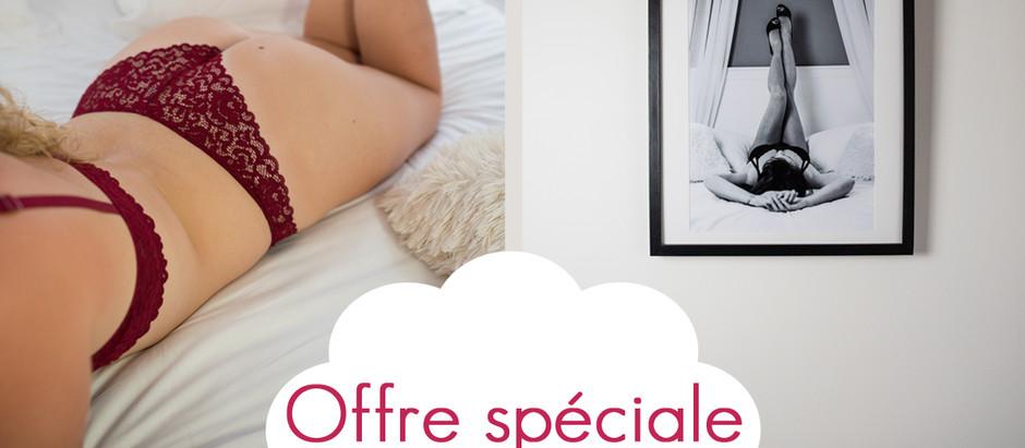 Offre spéciale Saint Valentin - mini session Boudoir