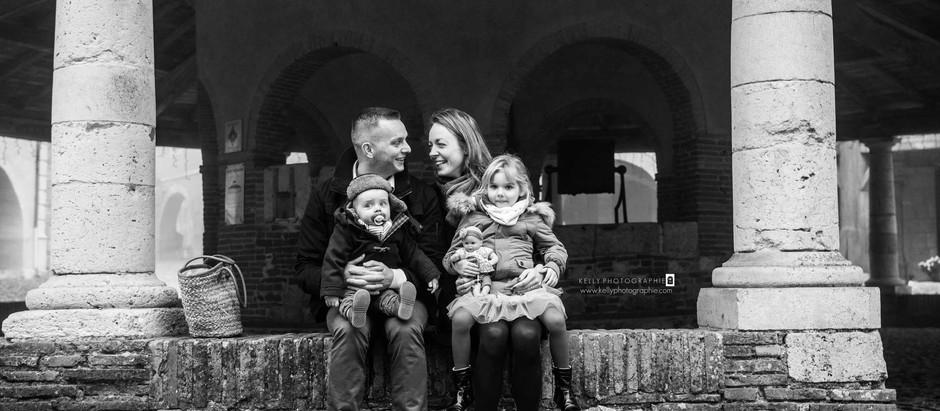 Séance photo famille en hiver