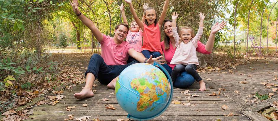 Photo de famille avant un tour du monde