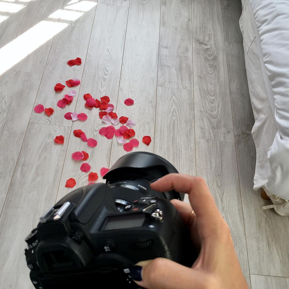 coulisses pétales de roses