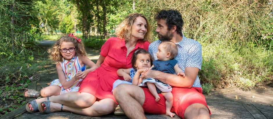 Séance photo lifestyle famille - Cinq au jardin